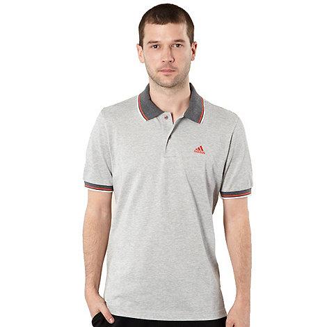 adidas - Grey tipped polo shirt