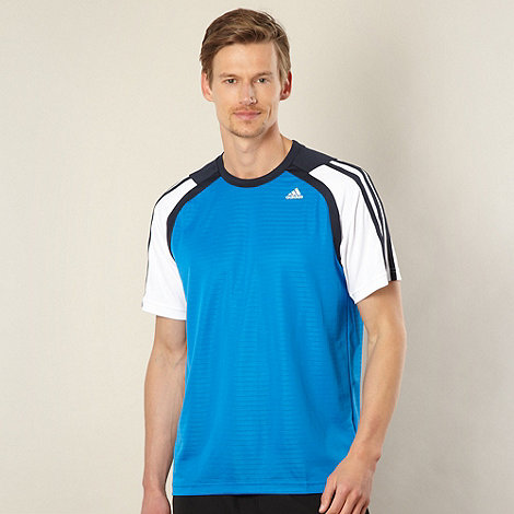 adidas - Blue panel trim t-shirt
