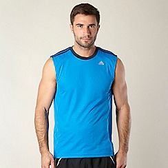 adidas - Blue perforated striped tank top