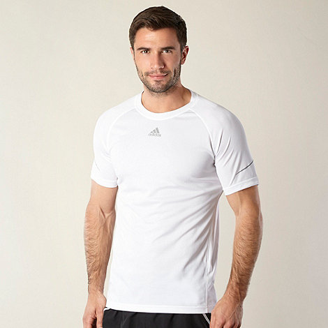 adidas - White performance running t-shirt