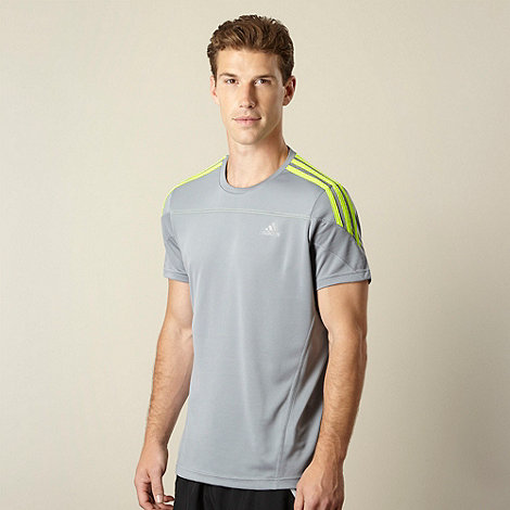 adidas - Grey +Response+ running t-shirt