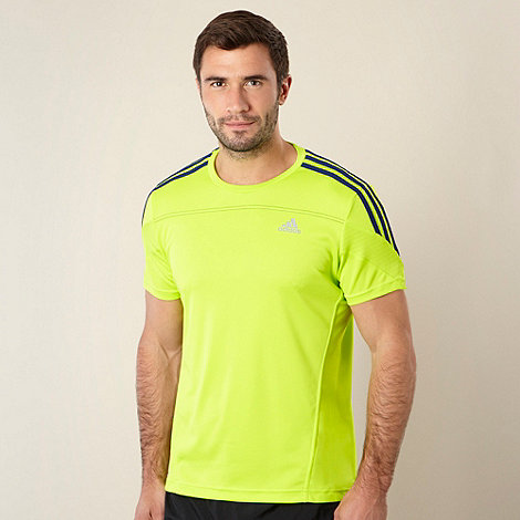 adidas - Lime +Response+ running t-shirt