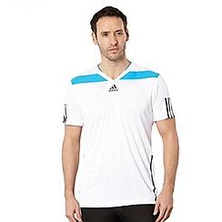 adidas - White mesh back crew neck top