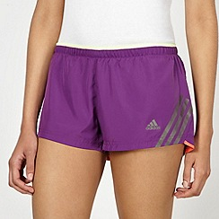 adidas - Purple neon trim shorts