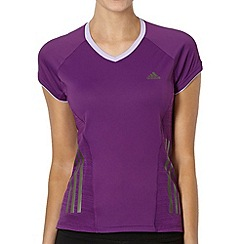 adidas - Purple 'Supernova' running t-shirt