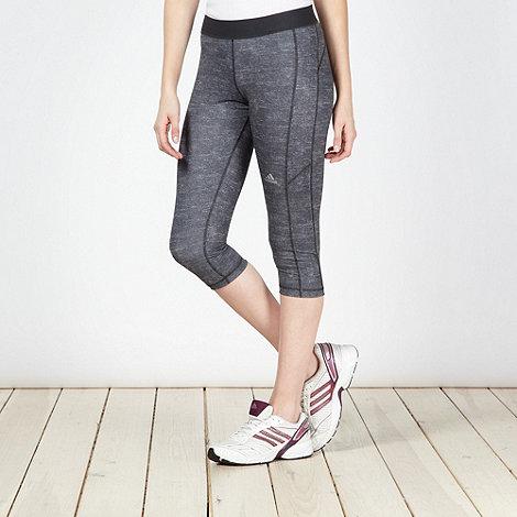 ADIDAS - Grey burnout capri gym tights