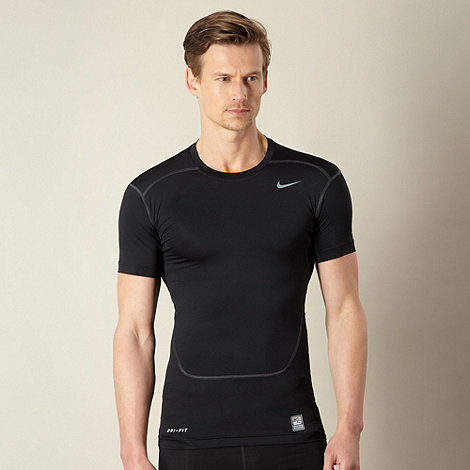 Nike - Black +compression+ top