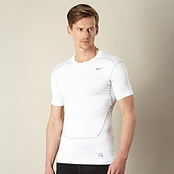 Nike - White 'compression' top