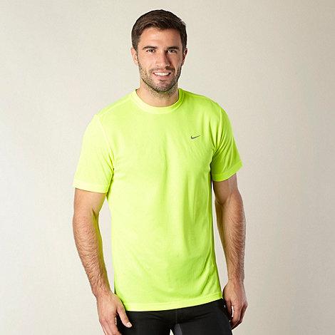 Nike - Neon yellow +Challengers+ running t-shirt