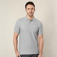 Nike - Grey 'Matchup' pique polo shirt