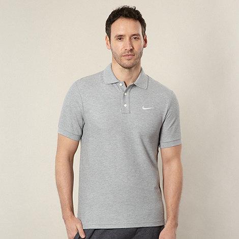 Nike - Grey +Matchup+ pique polo shirt
