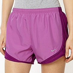 Nike - Purple mesh panelled running shorts