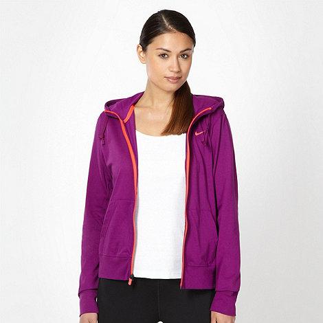Nike - Purple zip through training hoodie