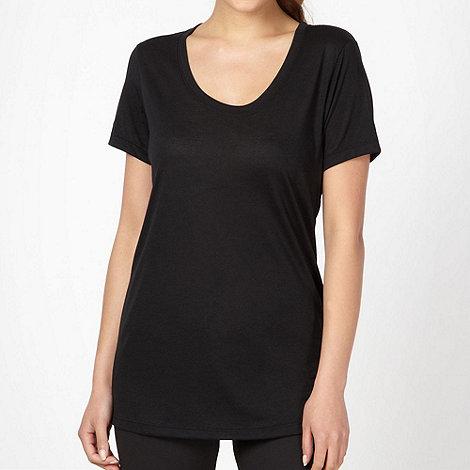 Nike - Black jersey scoop neck t-shirt