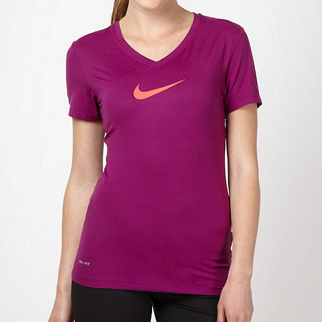 Nike - Purple +Sculpt+ fitness t-shirt