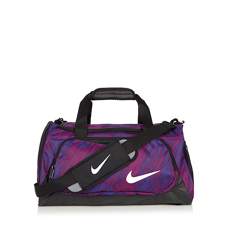 Nike - Purple striped canvas gym bag