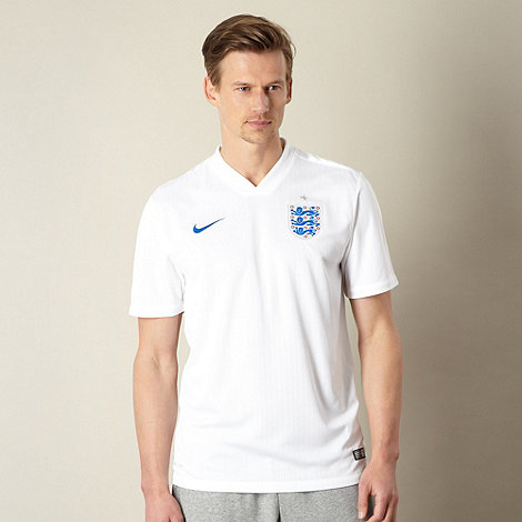 Nike - White England World Cup 2014 Home Shirt