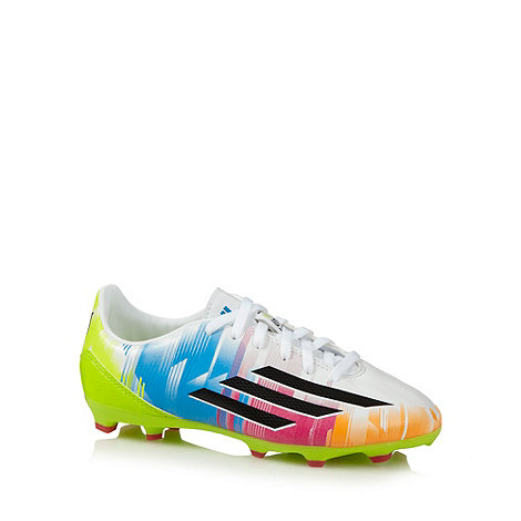 adidas - Boy+s white +Messi+ football boots