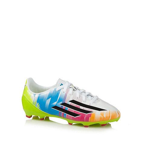 adidas - Boy+s white +Messi+ football boots