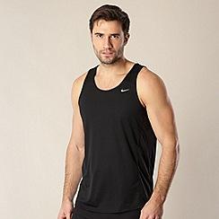Nike - Black mesh panel tank top