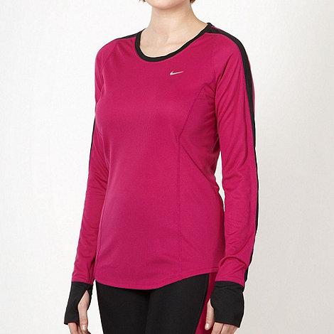 Nike - Dark pink mesh rear top