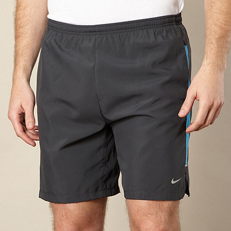 Nike - Blue mesh panel running shorts