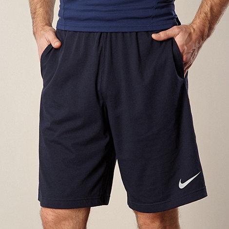 Nike - Navy elasticated gym shorts