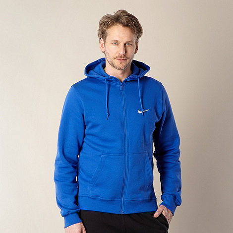 Nike - Blue zip through +Club+ hoodie