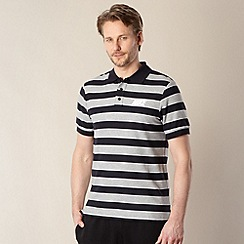 Nike - Black striped pique polo shirt
