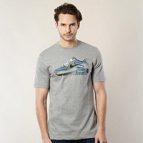 Nike - Grey +Air Max+ trainer print t-shirt