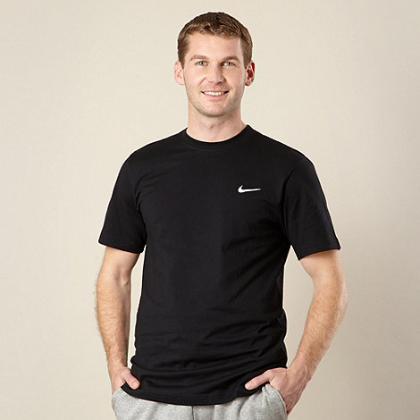 Nike - Black embroidered logo t-shirt