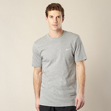 Nike - Grey embroidered logo t-shirt