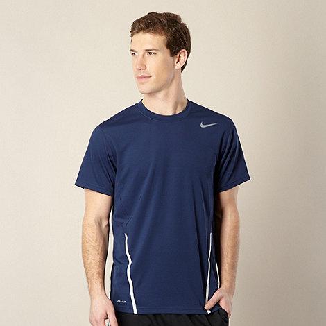 Nike - Navy +Power+ logo top