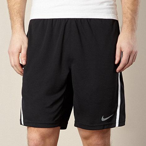 Nike - Black +Power+ striped shorts