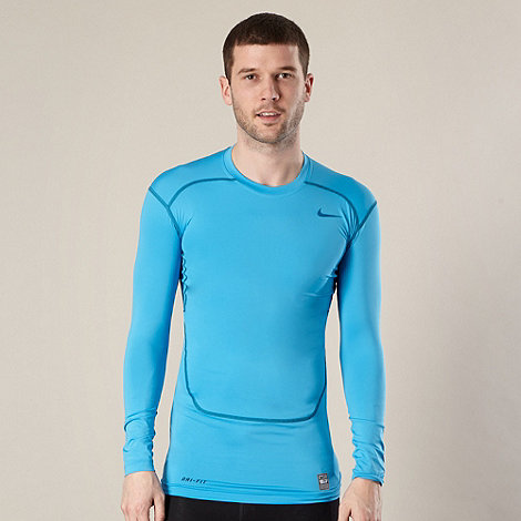 Nike - Blue long sleeved compression top