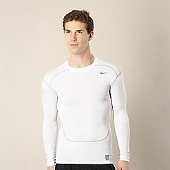 Nike - White long sleeved compression top