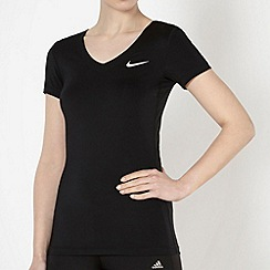Nike - Black V neck performance t-shirt