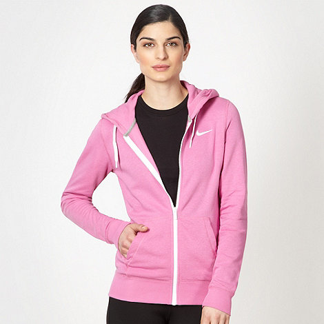 Nike - Pink zip through +Club+ hoodie