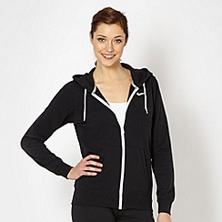 Nike - Black plain zip through hoodie