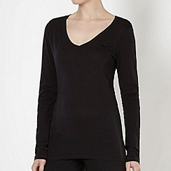 Nike - Black jersey long sleeved top