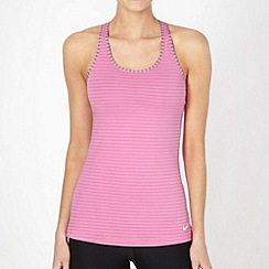 Nike - Pink striped padded tank top
