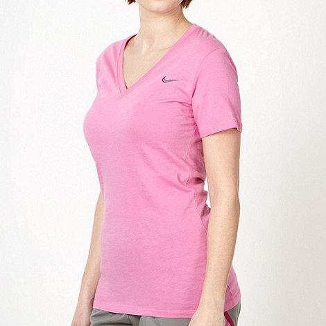 Nike - Pink deep V neck t-shirt
