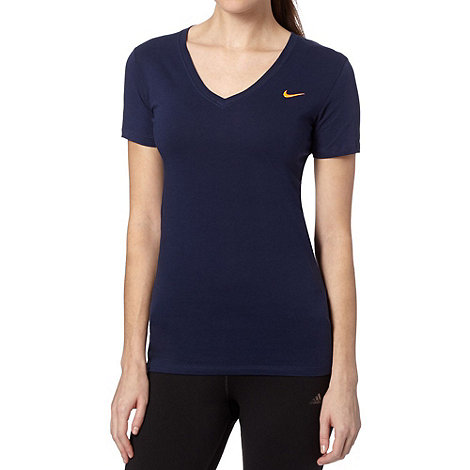 Nike - Navy deep V neck t-shirt
