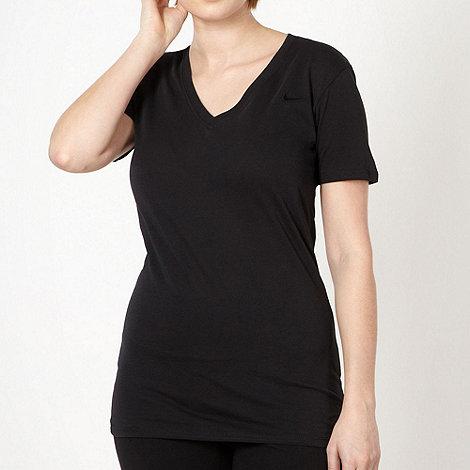 Nike - Black deep V neck t-shirt
