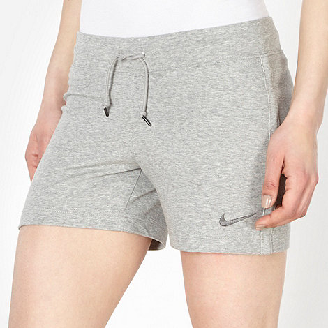 Nike - Grey jersey sweat shorts