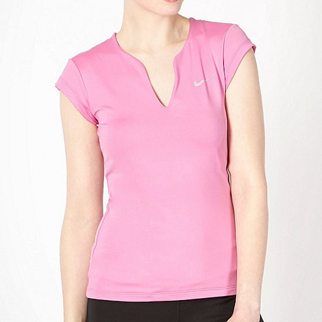 Nike - Pink +Pure+ gym t-shirt