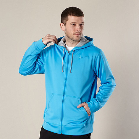 Nike - Blue zip through insulated hoodie
