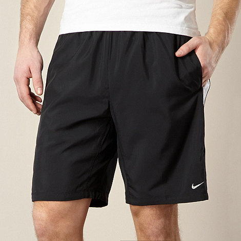 Nike - Black woven mesh panelled shorts