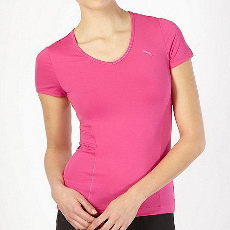 Puma - Neon pink V neck top