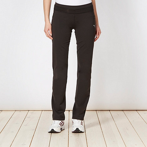Puma - Black slim fit gym trousers
